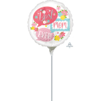 "9'' ""Best Mom Ever Bubbles"" Foil Balloon Round, A15, bulk, 23cm"