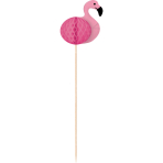 10 Picks Flamingo Paradise Honeycombs Wood 19 cm