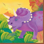 16 Beverage Napkins Prehistoric Party 25 x 25 cm