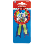 Award Ribbon Confetti Pouch Balloon Bash Fabric / Vinyl / Foil 7.9 x 14.6 cm