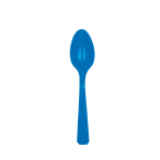 20 Spoons Bright Royal Blue Plastic 14.7 cm