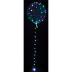 Clearz Crystal Clear with LED multi-colour Foil Balloon P45 Packaged