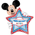 SuperShape personalisiert Mickey Mouse Birthday Foil BalloonP40 Packaged 60 x 76 cm