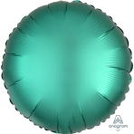 "Standard ""Satin Luxe Jade"" Foil Balloon Round, S15, packed, 43cm"