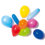 10 Latex Balloons Shapes assorted with Pump
