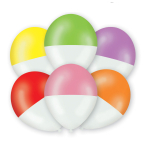 """6 Balloons Latex """"Two-Tone"""", assorted, 27,5 cm/11"""""""