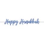 Banner Foil Happy Hanukkah Script
