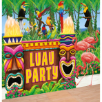 6 Giant Party Decoration Kit Hawaiian