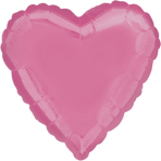 "Standard ""Bright Bubble Gum Pink"" Foil Balloon Heart, S15, packed, 43cm"