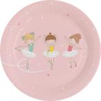 8 Plates Little Dancer Paper Round 17.7 cm