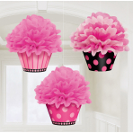 3 Fluffy Decoration Cupcakes Oh So Fabulous 26 cm