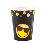 8 Cups Smiley Emoticons Paper 250 ml