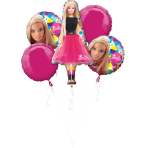 "Bouquet ""Barbie Sparkle  "" 5 Foil Balloons, P75, packed"