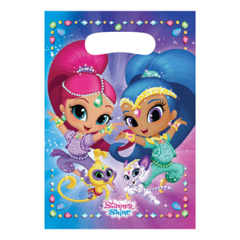 8 Party Bags Shimmer & Shine Plastic 23.4 x 16.2 cm