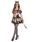 Adult Costume Scary Clown Petticoat Dress Size M