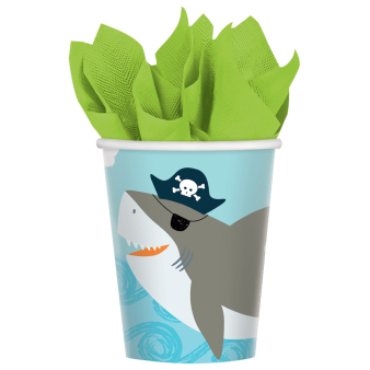 8 Cups Ahoy Birthday Paper 250 ml