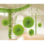 Decoration Kit Kiwi Green Paper / Foil 18 Parts 274 cm / 213 cm / 20.3 - 55.8 cm