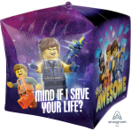 UltraShape Cubez Lego Movie 2 Foil Balloon G40 Packaged 38cm x 38cm