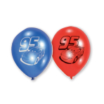 6 Latex Balloons Cars 22.8 cm / 9""