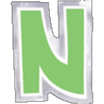 48 Stickers Letter N