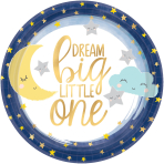 8 Plates Twinkle Little Star Paper Round 17.7 cm
