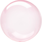 Clearz Crystal Dark Pink Foil Balloon S40 packaged