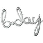 Script Phrase `Bday` Silver