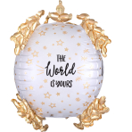 Ultrashape The World is Yours Foil Balloon P60 packaged