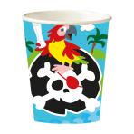 8 Cups Pirate Paper 250 ml