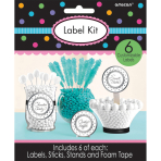 6 Label Kits Silver