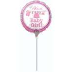 9'' Shower with Love Girl FoilBalloon Round A15 Air Filled  23 cm