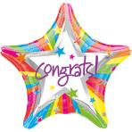 Standard Rainbow Congrats FoilBalloon S40 Packaged