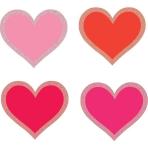 50 Cutouts Hearts Valentine's Day Glitter Paper 6 cm