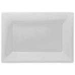 3 Platters Frosty White Plastic Rectangular 33 x  23 cm