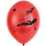 "6 Spider-Man Latex Balloons 4 Sided 11""/27.5cm"