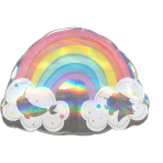 "Holographic SuperShape Magical Rainbow Foil Balloon P40 Packaged 28""/71cm w x 20""/50cm h"