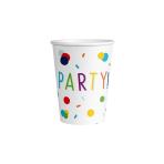 8 Cups Confetti Birthday Paper 250 ml