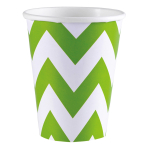 8 Cups Kiwi Chevron Paper 250 ml