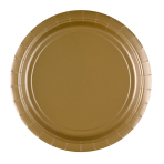 8 Plates Gold Paper Round 22.8 cm