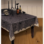 Tablecover Midnight Plastic Lace 152 x 213 c m