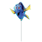 "Mini Shape ""Finding Dory Shape"" Foil Balloon A30 bulk"