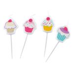 4 Mini Character Candles Cupcake 7.5 cm