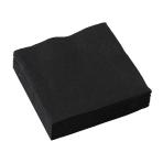 20 Napkins Black 25 x 25 cm