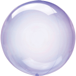Clearz Crystal Purple Foil Balloon S40 packaged