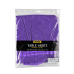 Table Skirt Solid Colour purple 426 x 73 cm
