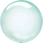 Clearz Petite Crystal Green Foil Balloon S15 Packaged