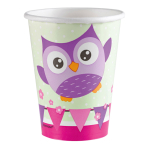 8 Cups Happy Owl Paper 250 ml