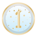 8 Plates 1st Birthday Blue Ombre Round Paper 22.8 cm