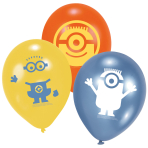 6 Latex Balloons Minions 22.8 cm/9''