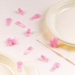 25 Mini Table Sprinkles Baby Girl Plastic